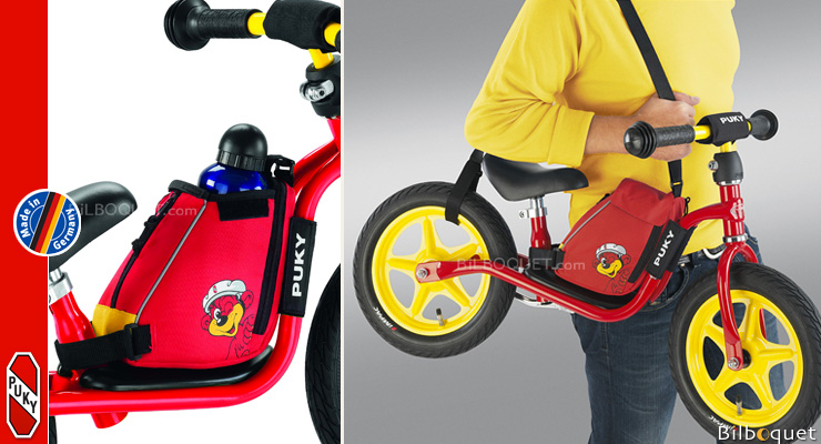 Red LRT Learner Bike Bag with integrated learner bike carrying str Puky