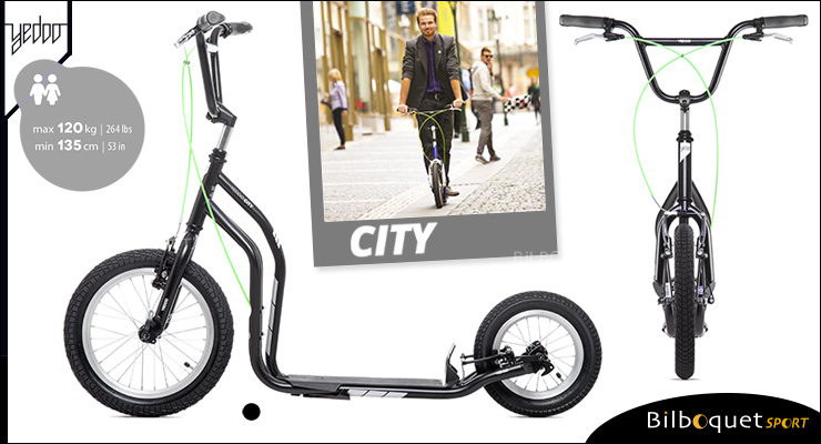 City II Scooter 12+ - BLACK Yedoo