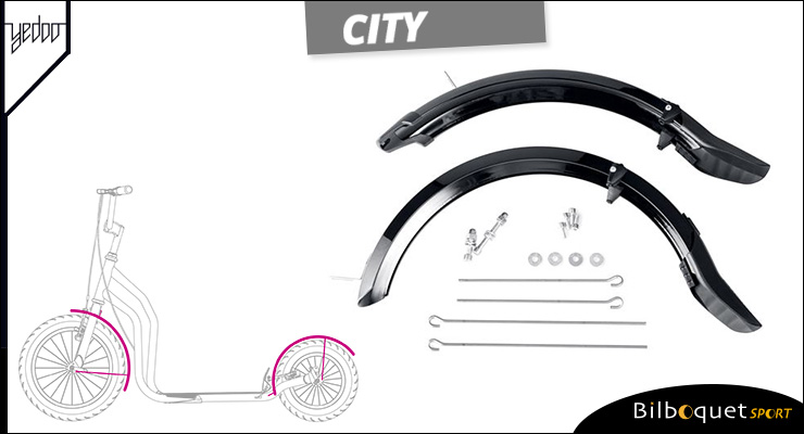 Set of mudguards for Scooter City II Yedoo