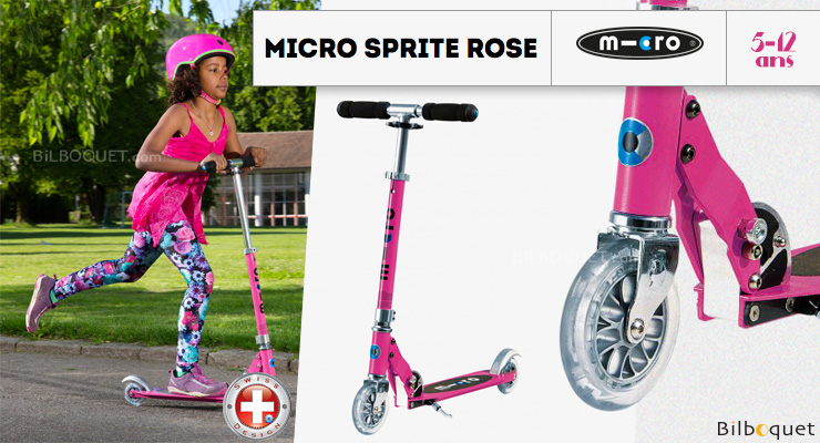 Micro Sprite Pink - Scooter for ages 5-12 Micro Mobility Scooters & Kickboards