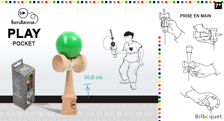 Kendama Play Pocket K - Green Kendama