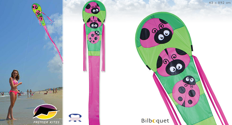 30 Ft. Dragon - Ladybugs - Kite for kids Premier Kites & Designs