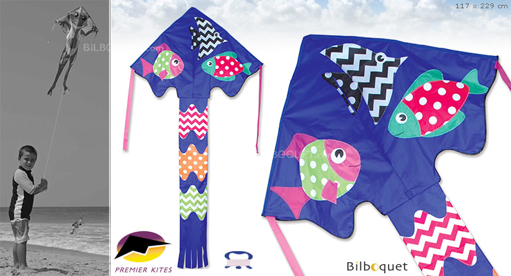 Single-line Kite Large Easy Flyer Fancy Fish 117x229cm Premier Kites & Designs