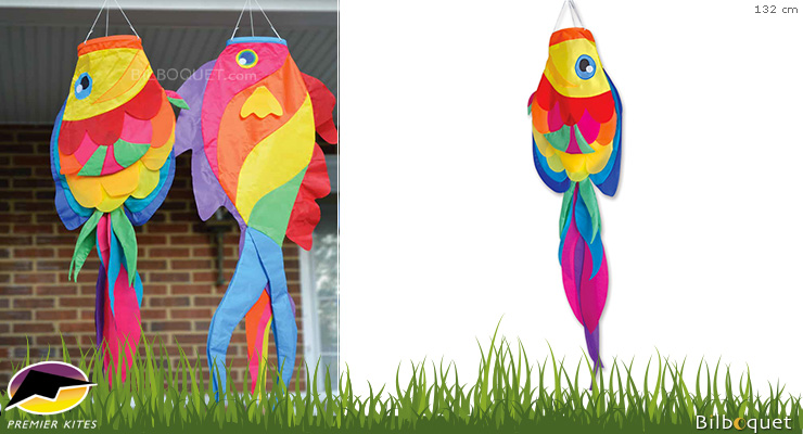 Rainbow Tang Fish Decorative Windsock 132cm Premier Kites & Designs