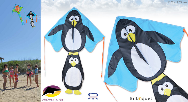 Single-line Kite Large Easy Flyer Penguins 117x229cm Premier Kites & Designs