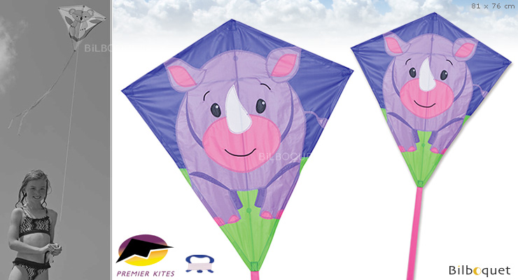 Riley Rhino Large Diamond Kite 81x76cm Premier Kites & Designs