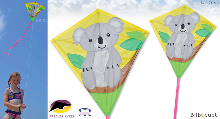 Koala Large Diamond Kite 81x76cm Premier Kites & Designs