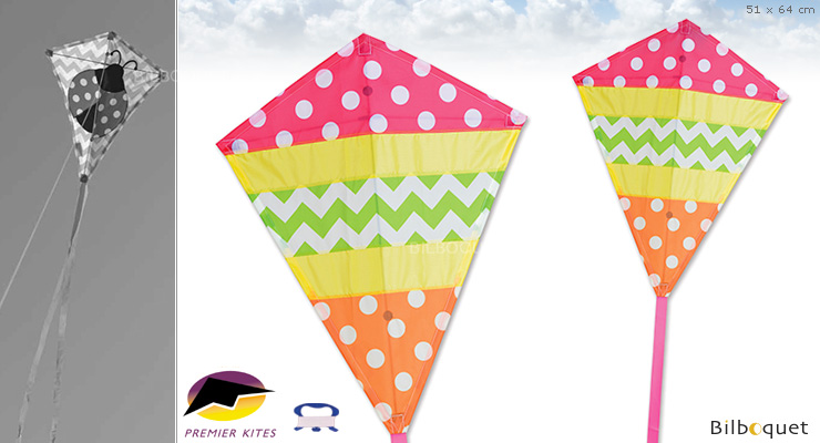 Cheerful Diamond Kite 51x64cm Premier Kites & Designs