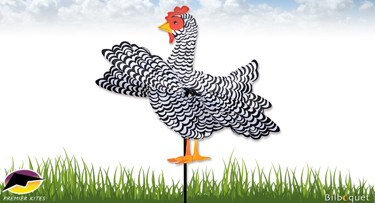 Outdoor Spinner WhirliGig Chicken 30cm Premier Kites & Designs