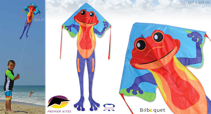 Single-line Kite Large Easy Flyer Rainforest Frog 117x229cm Premier Kites & Designs