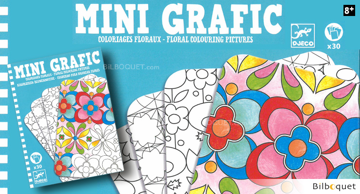 Mini Grafic game Floral Colouring Pictures Djeco
