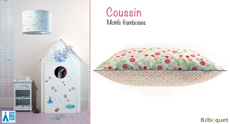 Coussin motifs Framboises Little Big Room by Djeco