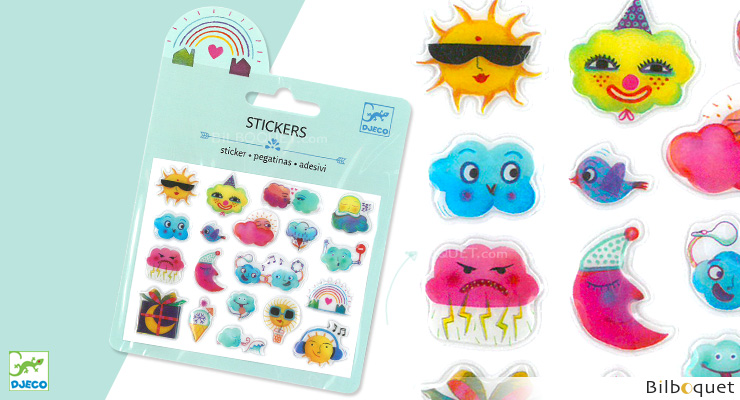 Mini Sticker Puffy - Weather Djeco