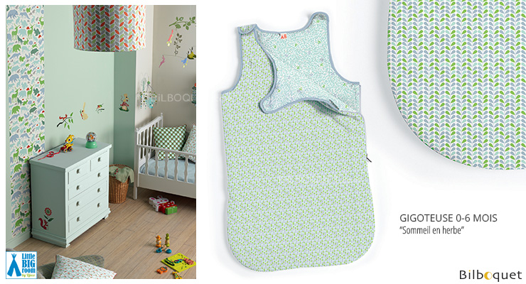 Baby Sleeping Bag 0-6 months Sleep in Herb Little Big Room by Djeco