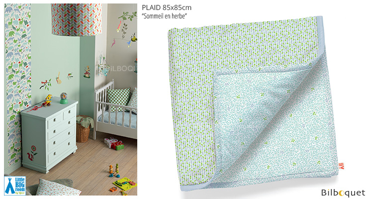 Plaid Sommeil en herbe - 85x85 cm Little Big Room by Djeco