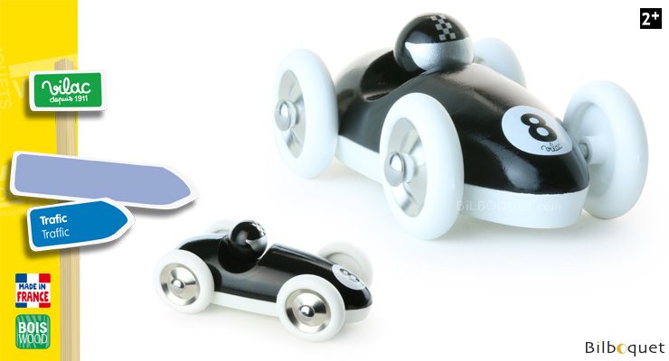 Black Roadster - Wooden Model Car Vilac