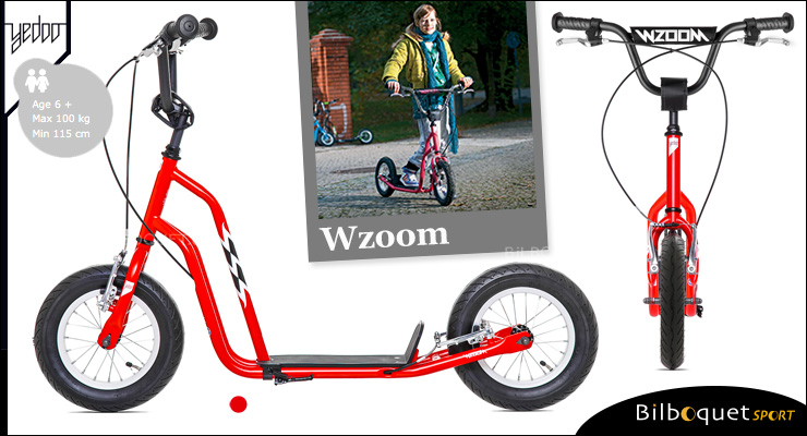 Wzoom trottinette enfant 6+ - RED Yedoo