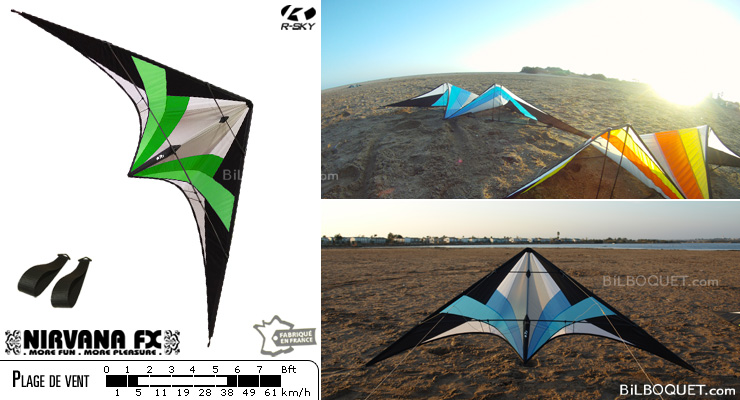 NFX - Nirvana FX WITHOUT lines - Wasabi (green) R-SKY kites