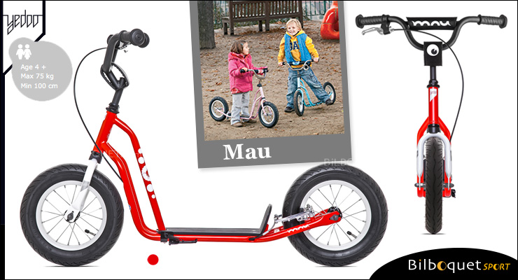 Mau trottinette enfant 4+ - NEW RED Yedoo