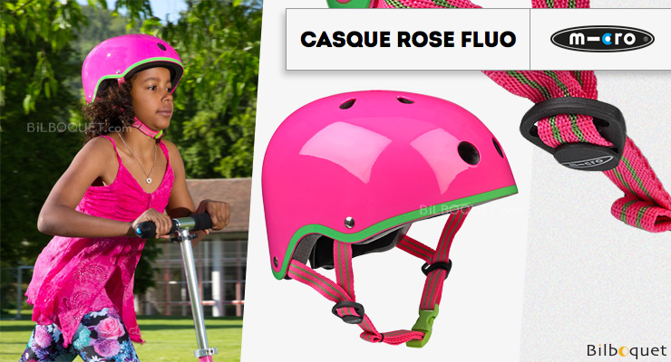 Casque enfant Rose Fluo - Taille M Micro Mobility Scooters & Kickboards