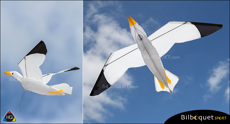 Seagull 3D Single-line Kite by Joel Scholz HQ Kites
