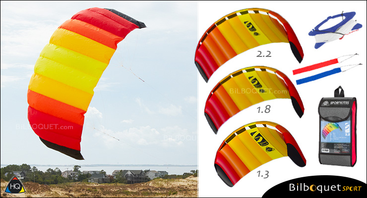 HQ Symphony Beach III - 2-line Power Kite 1.3 - Mango HQ Kites