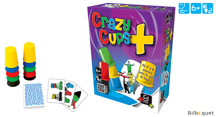 Crazy Cups + - Game of Observation and Speed for 2 players Gigamic