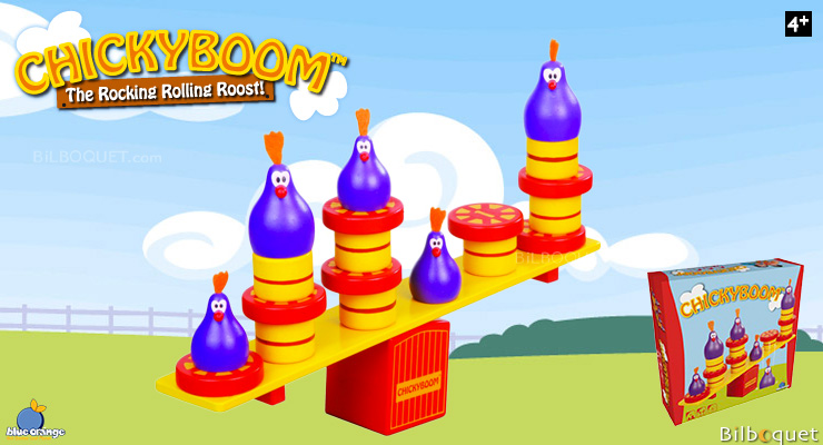 Chickyboom Game of Balance Blue Orange Games