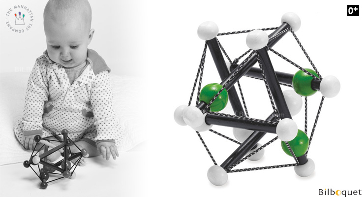 Skwish Elements Rattle Toy (black/white/green) Manhattan Toy