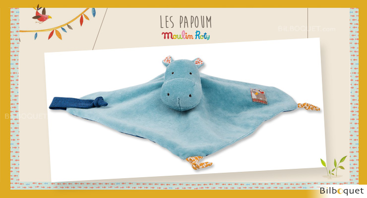 Flat Comforter Hippo Les Papoum - Moulin Roty Moulin Roty