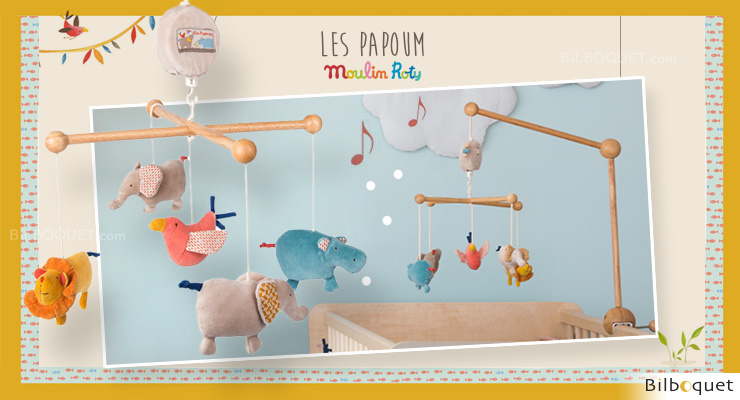 Mobile musical Les Papoum - Moulin Roty Moulin Roty