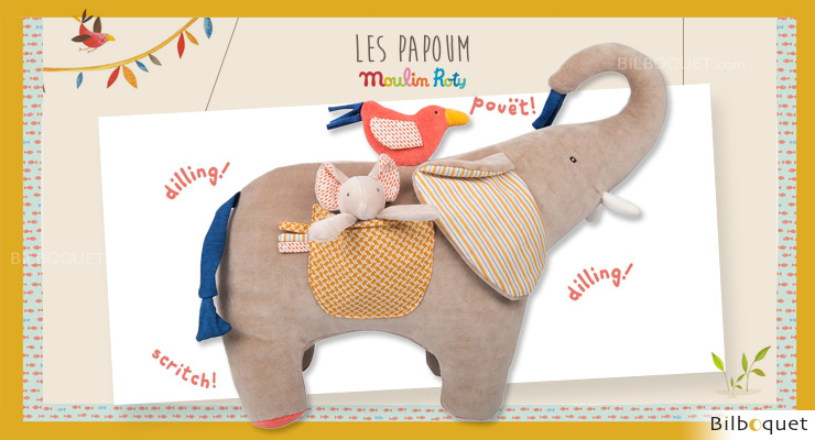 Activity Elephant Les Papoum - Moulin Roty Moulin Roty