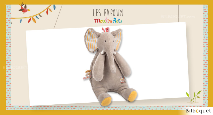 Doll Comforter Elephant Les Papoum - Moulin Roty Moulin Roty