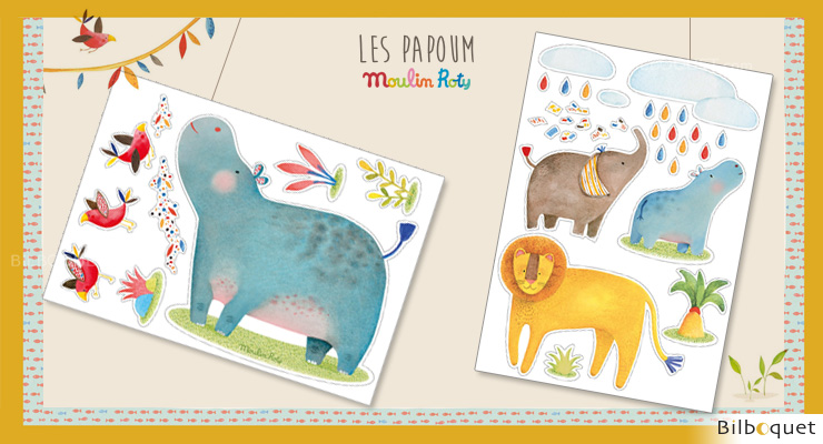 Deco Stickers Les Papoum - Moulin Roty Moulin Roty