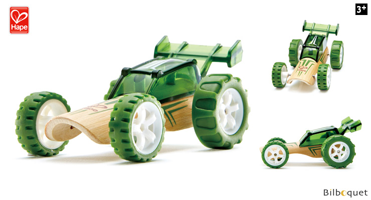 Bamboo Model Car Mighty Mini Baja (dark green) Hape Toys