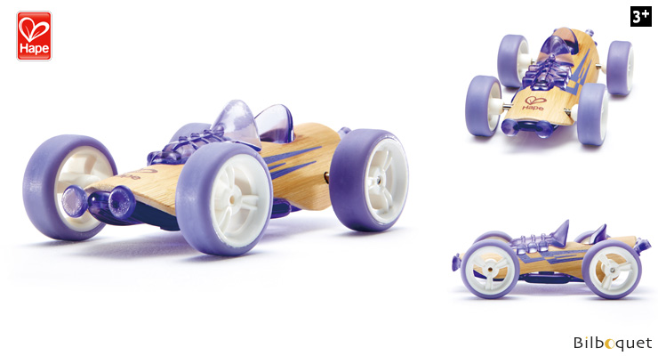Bamboo Model Car Mighty Mini Sportser (purple) Hape Toys