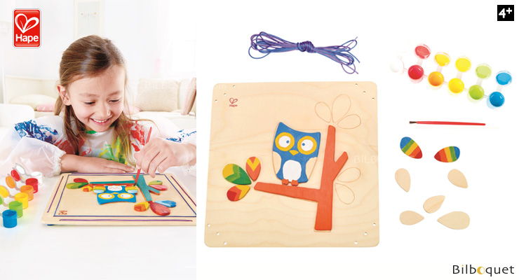 Hoot Owl Paint and Frame - Creative Activity Hape Toys