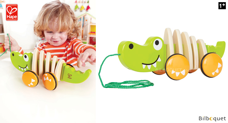 Crocodile - Wooden Pull-along Toy Hape Toys
