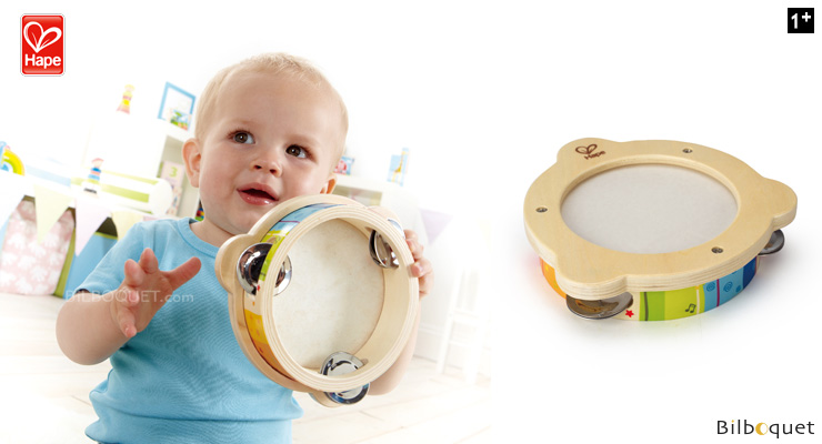 Mr. Tambourine - Wooden Toy Instrument Hape Toys