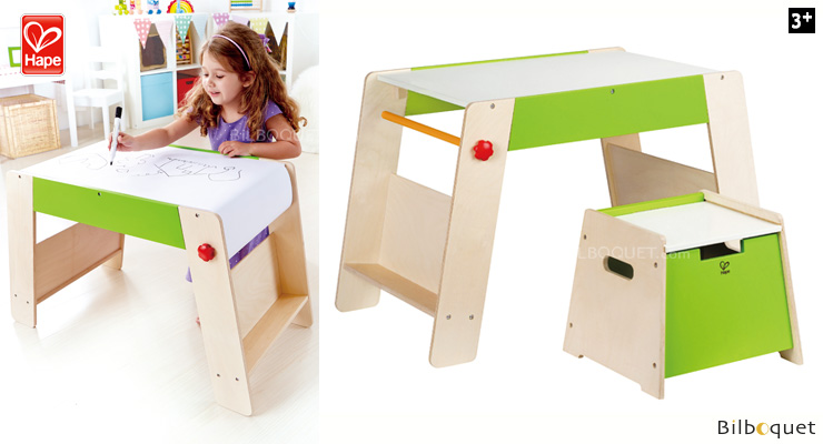 Play Station & Stool Set - Kids Room Play Furniture Hape Toys