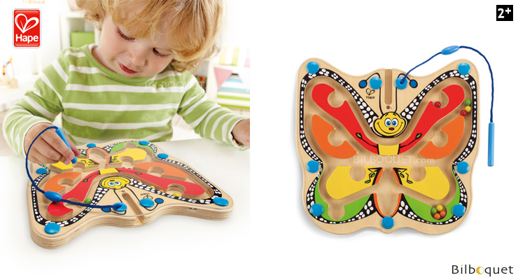 Color Flutter Butterfly Magnetic Maze - Wooden Game Hape Toys