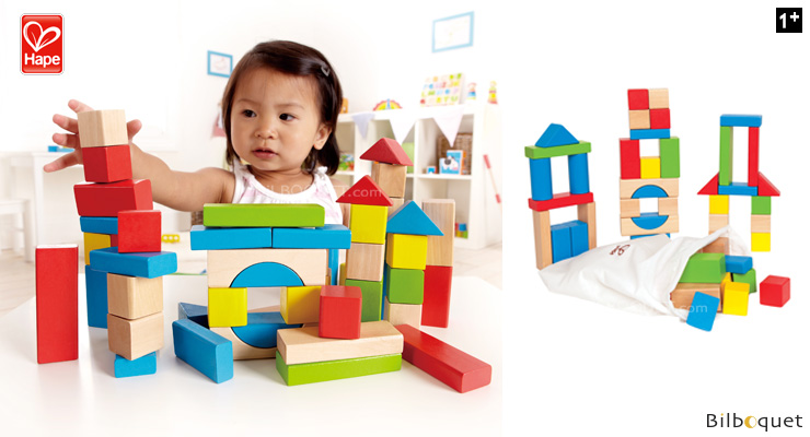 blocs d erable  pieces jeu de construction en bois hape toysucucp