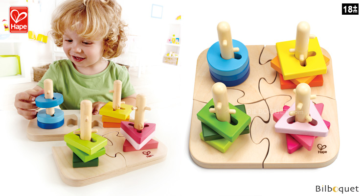 Creative Peg Puzzle - Wooden Toy for toddlers Hape Toys