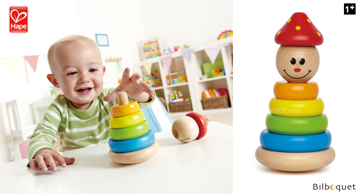 Clown Stacker - Wooden Stacking Toy Hape Toys