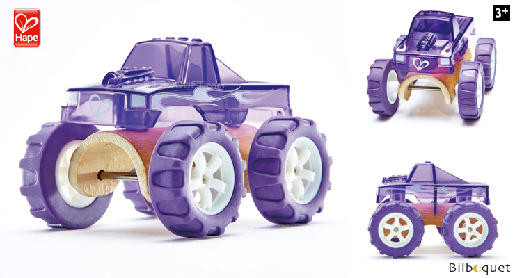 Bamboo Model Car Mighty Mini Monster Truck (purple) Hape Toys