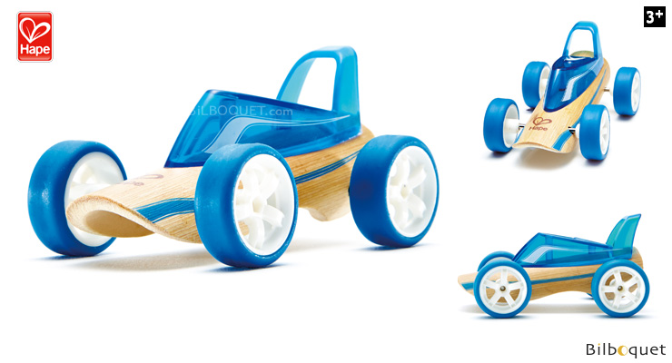 Bamboo Model Car Mighty Mini Roadster (blue) Hape Toys