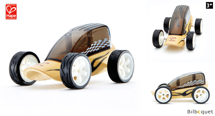 Bamboo Model Car Mighty Mini Low Rider (black) Hape Toys