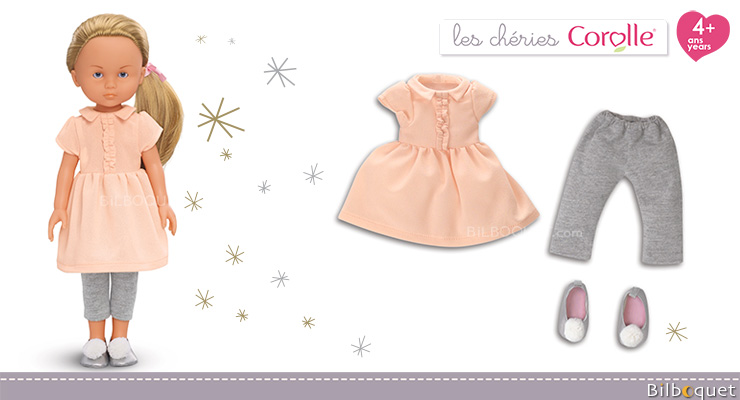 Dress & Leggings Set for Les Cheries 33cm Dolls Corolle