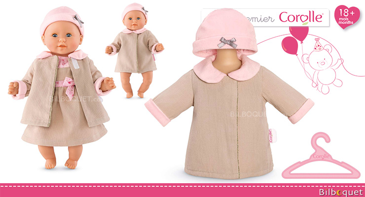 Christmas Tales coat for 30cm baby Doll Corolle