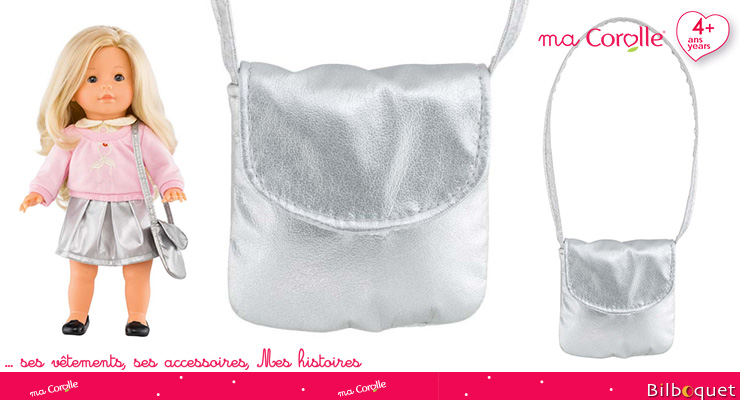Silver Handbag for Ma Corolle 36cm Doll Corolle